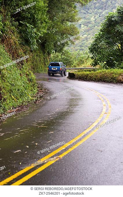 Road to Hana. Maui. Hawaii. Oheo Pools Gulch Hana Highway Mount Haleakala Maui Hawaii Pacific Ocean. The Hana Highway is a 64. 4-mile 103