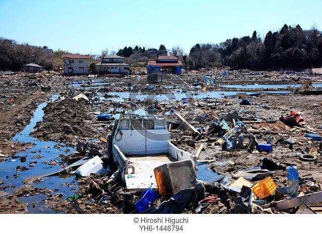 Japan, Fukushima prefecture, Soma-shinchimachi, the area was destroyed by the tsunami on March 11th, 2011