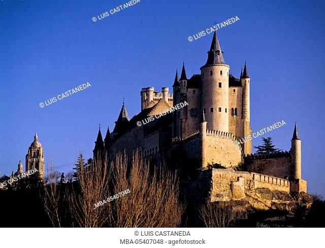The Alcazar and The Cathedral, Segovia, Spain