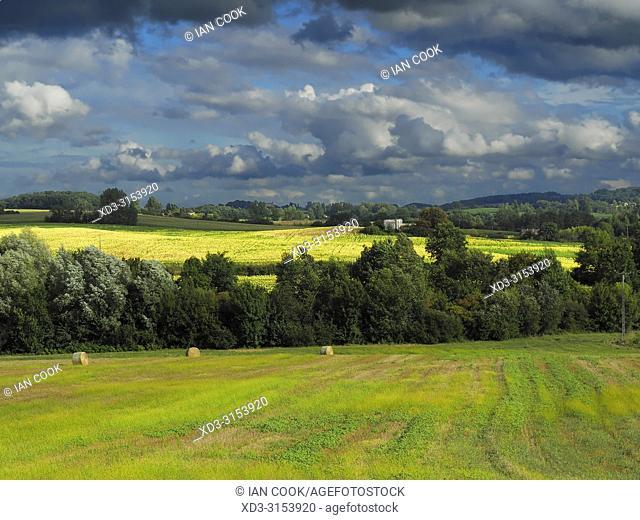 landscape near Lauzun, Lot-et-Garonne Department, Nouvelle-Aquitaine, France