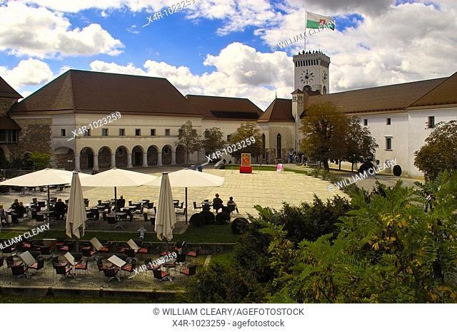 Ljubljana Castle, in the city of Ljubljana, capital city of Slovenia