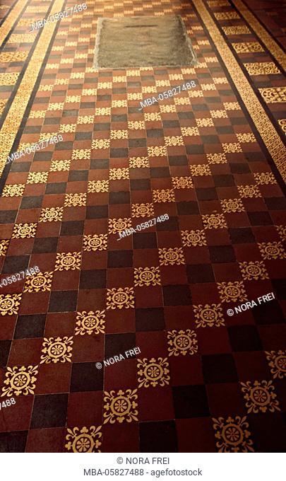Church, floor, tiles, samples