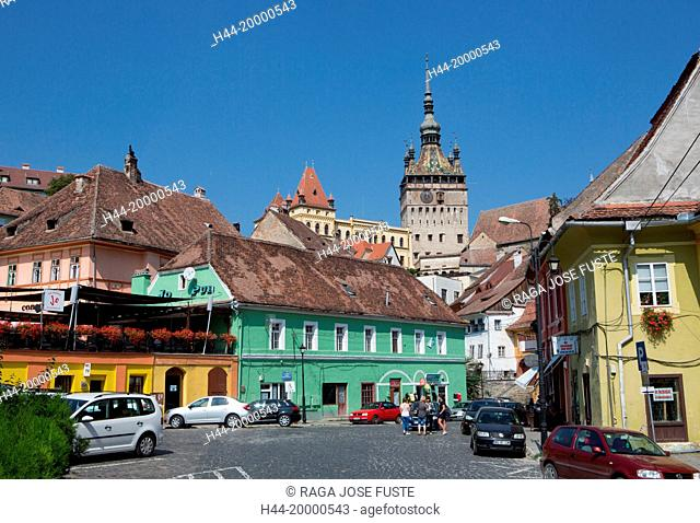 Romania, Mures County, Sighisoara City, The Citadel, Clock Tower