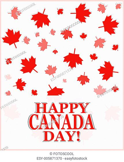 Happy Canada Day greetings card