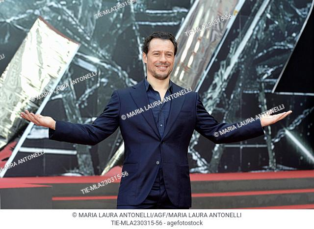 "The actor Stefano Accorsi during the photocall of tv series """" 1992 """", Rome, ITALY-23-03-2015"