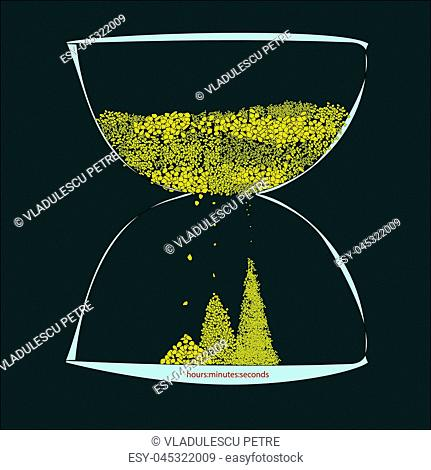 a high precision hourglass(hours, minutes, seconds)