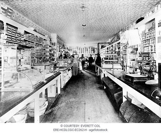 Interior of the Boise Basin Mercantile store, Idaho City, Idaho. ca. 1900