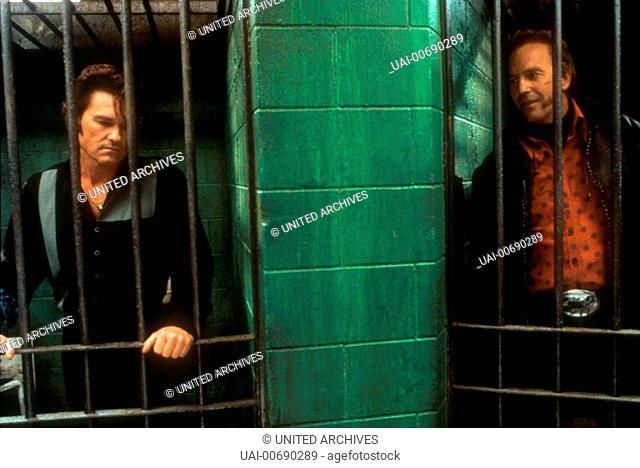 Kurt Russel, Kevin Costner *** Local Caption *** 2001, 3000 Miles To Graceland, 3000 Miles To Graceland