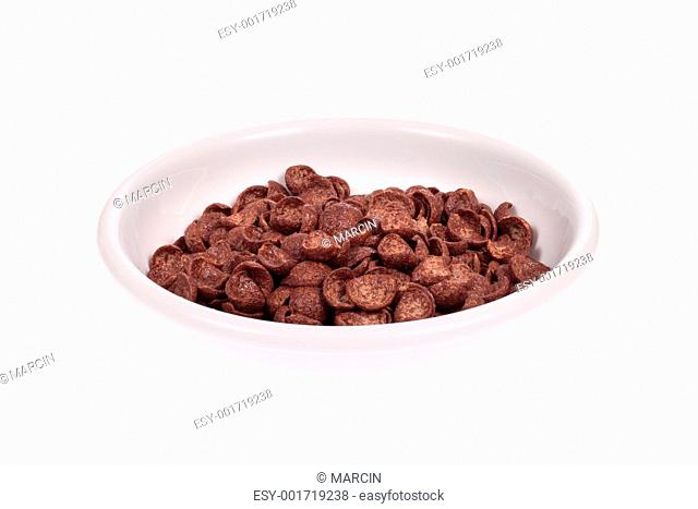 bowl from chocolate corn flakes