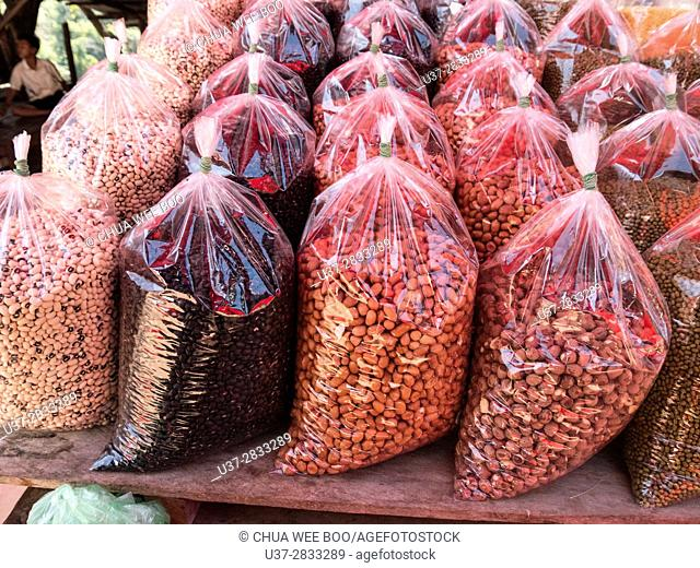 Beans for sale, Siem Reap, Cambodia