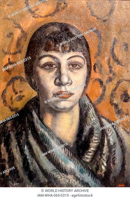 Retrat deTototte (Portrait of Tototte) 1912 by Joaquim Sunyer (1874-1956). Oil on canvas