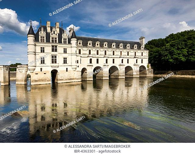 Chenonceau Castle on the Cher, Department Indre-et-Loire, Centre Region, France