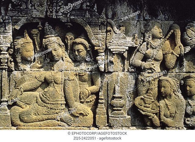 First gallery east. Upper six. Borobudur, Indonesia
