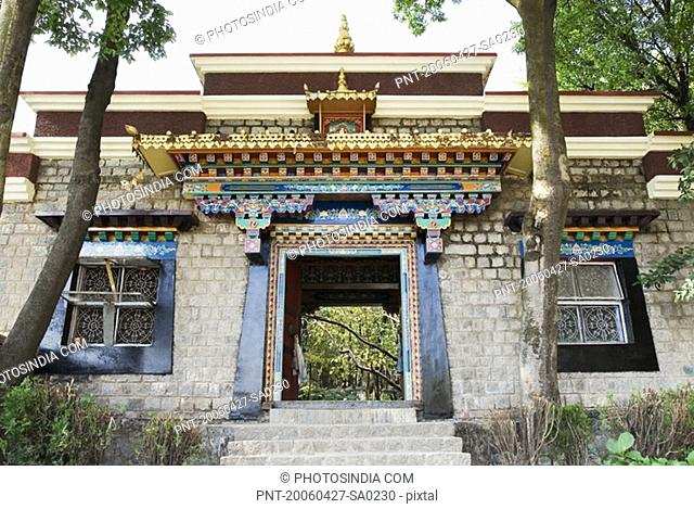 Low angle view of a building, Norbulingka Institute, Dharamsala, Himachal Pradesh, India