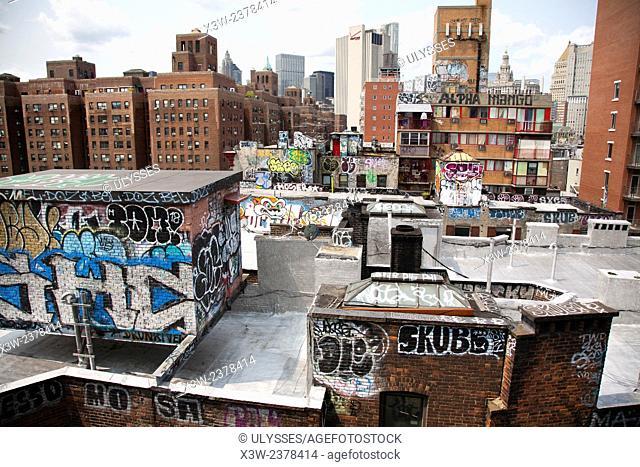 overview, city center, Manhattan, New York, USA America