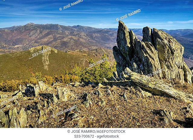 Sierra Norte from 'Cuerda de la Astilla'. Madrid. Spain.