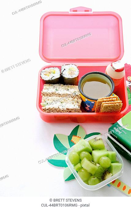 Food packed into lunch box