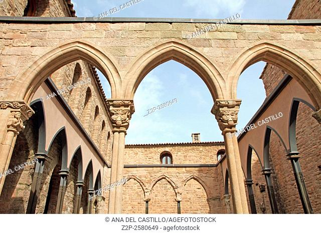 St Vicente cloister Historical Castle of Cardona a luxury state run hotel. Barcelona Catalonia Spain