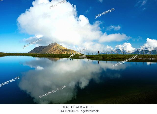 artificial lake in the Allgäu alps