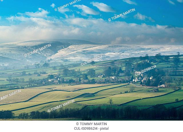 Landscape view of Helton village, The Lake District, UK