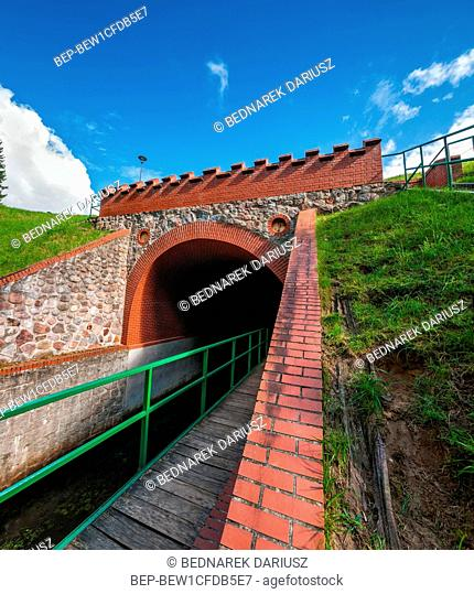Aqueduct on the Grand Canal of the River Brda in Fojutowo, Kuyavian-Pomeranian voivodeship. Poland