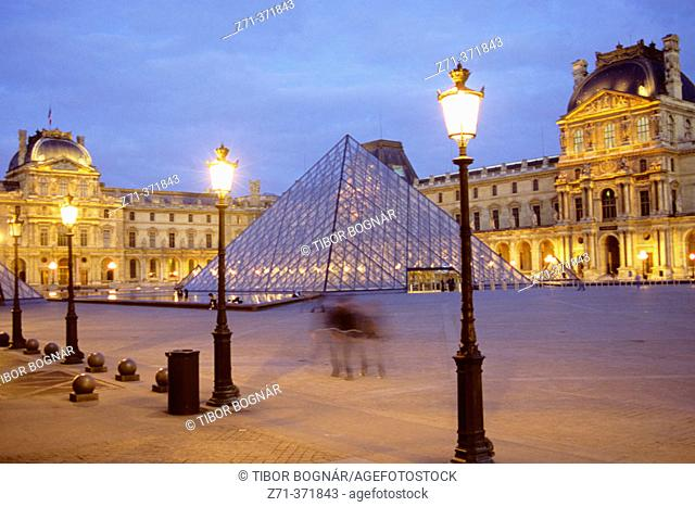 Louvre Pyramid. Paris, France
