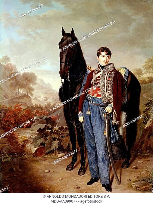 Portrait of John Rocca (Portrait de John Rocca), by Pierre Louis Bouvier, 19th Century, oil on canvas