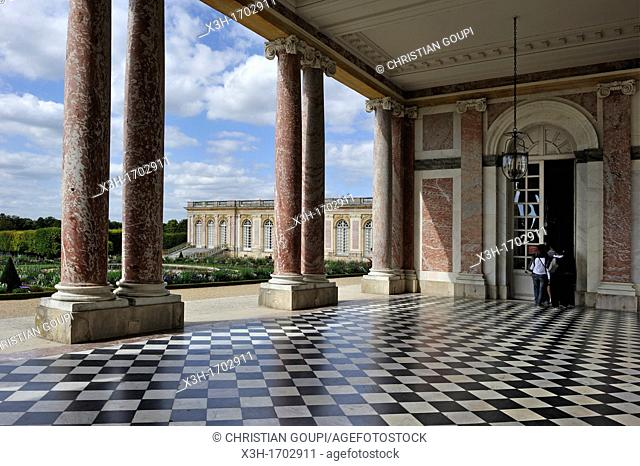 peristyle of the Grand Trianon, Domain of Versailles, Yvelines departement, France, Europe