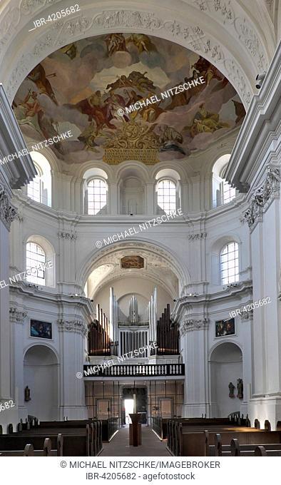 Interior view, Neumünster, Wuerzburg, Lower Franconia, Bavaria, Germany