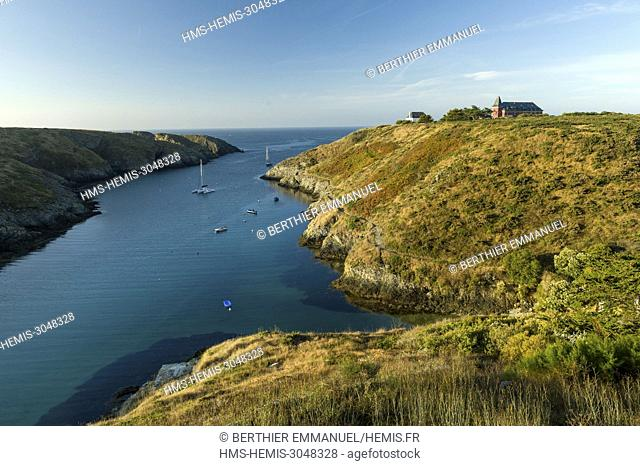 France, Morbihan, Belle-île, Bangor, the view from the Castel Clara