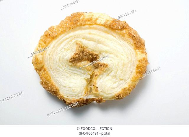 A palmier puff pastry biscuit