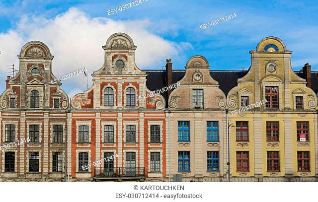 Old buildings around the Grand Place in the French Arras