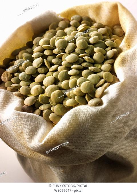 Organic Green Lentils Beans