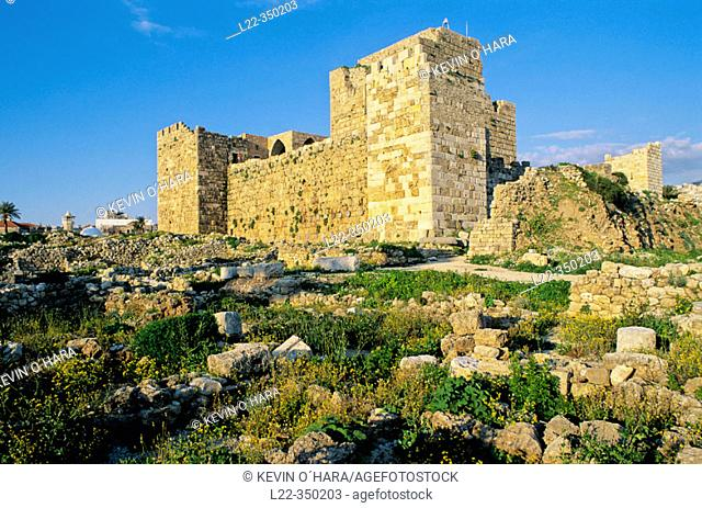 Crusaders' Castle. Byblos, archaeological site. Lebanon
