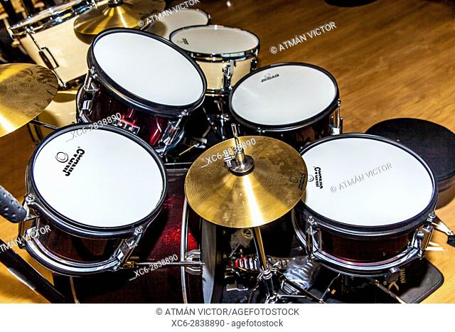 Drum kit view from above