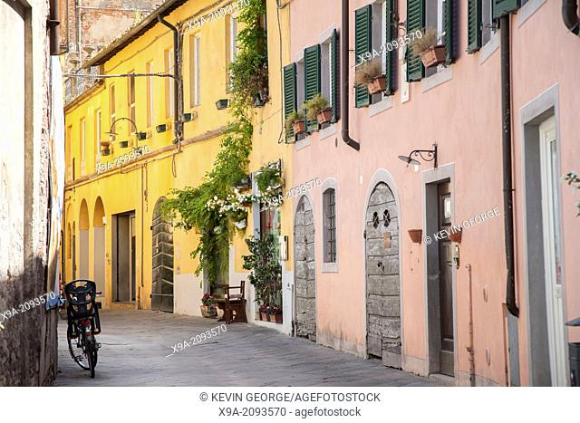 Street Scene in Lucca; Tuscany; Italy