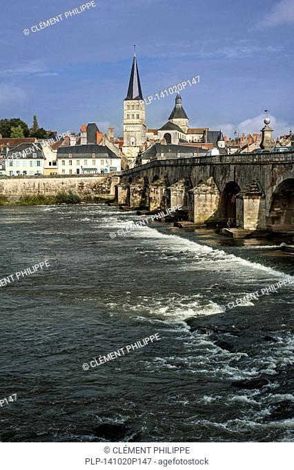 La Charité-sur-Loire along the river Loire, Burgundy, Nièvre, France