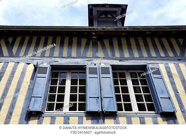 architectural detail, old town of Honfleur, Normandy, France