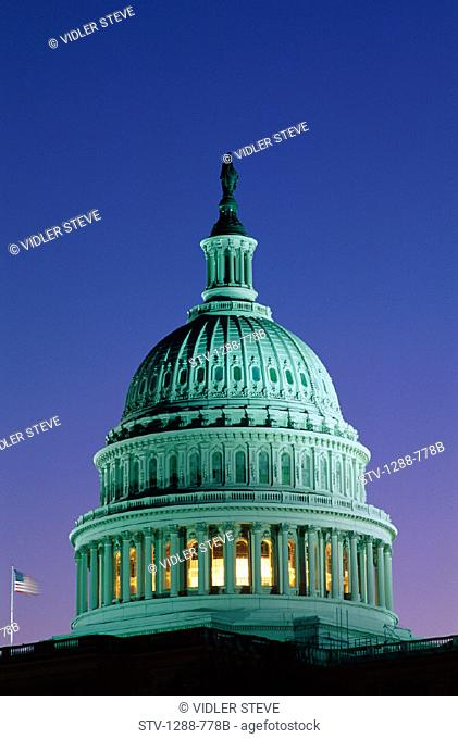 America, Capitol building, Columns, Congress, Dome, Freedom, Government, Holiday, House of representatives, Landmark, Law, Night