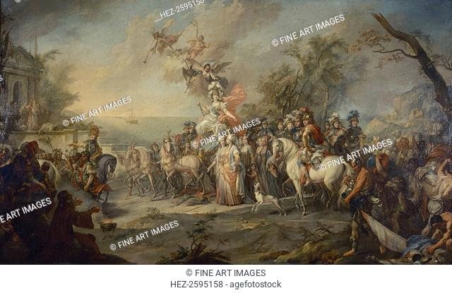 Allegory of Catherine the Great?s Victory over the Turks and Tatars, 1772. Found in the collection of the State Tretyakov Gallery, Moscow
