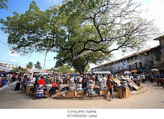 Tanzania, Zanzibar Unguja island, Zanzibar city, market of Stone Town