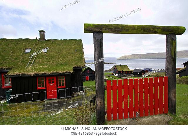 Views of the town of Kirkjubøur on Streymoy in the Faroe Islands  MORE INFO The Faroe Islands lie halfway between Iceland and Norway  They have been an...