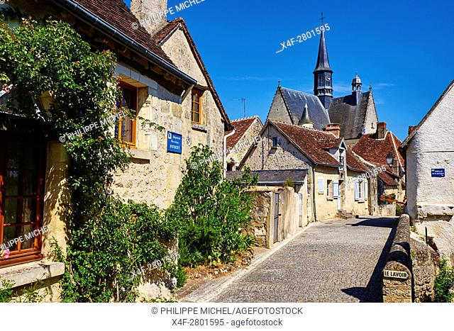 France, Indre-et-Loire (37), Montrésor, classified Les Plus Beaux Villages de France or the Most beautiful villages of France, St John Baptist church