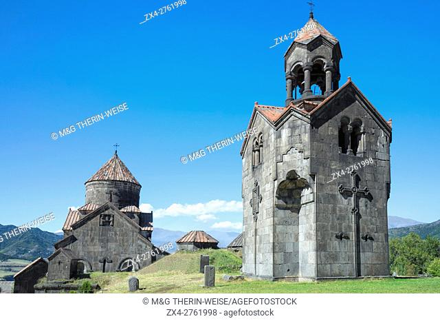 11th-century Haghpat Monastery, Surb Nishan, Cathedral and bell tower, Haghpat, Lori Province, Armenia, Caucasus, Middle East, Asia, Unesco World Heritage Site