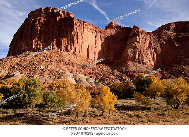 Autumn at Capitol Reef National Park in Utah, United States of America, USA
