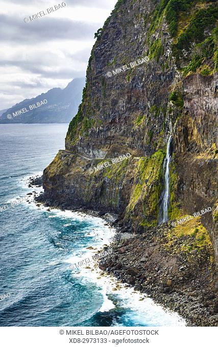 Coastal landscape close to São Vicente. Madeira, Portugal, Europe