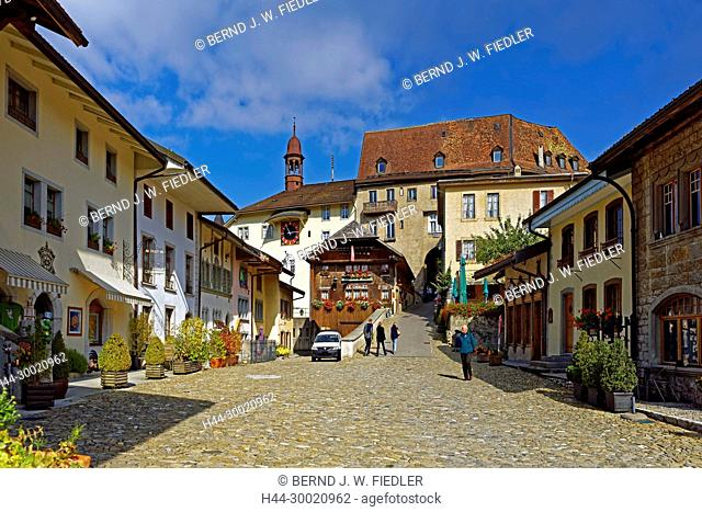 Häuser, historisch, Altstadtkern, Restaurant, Le Chalet