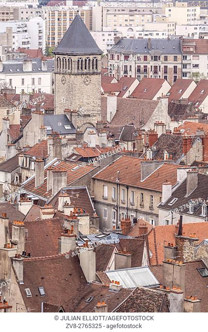 Looking over the rooftops of Dijon, France