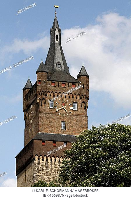 Tower of Schwanenburg castle, Kleve, Niederrhein region, North Rhine-Westphalia, Germany, Europe