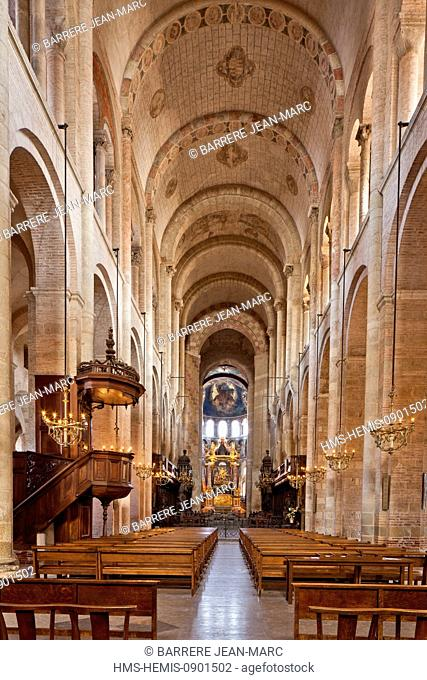 France, Haute Garonne, Toulouse, a stop on el Camino de Santiago, Saint Sernin Basilica listed as World Heritage by UNESCO